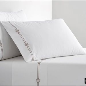 PB Emilia Embroidered Sheet Set-Simply Taupe-Queen